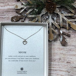 Dogeared Sterling Silver Mom Heart Necklace